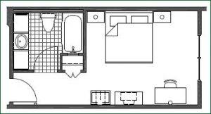 Floor plan 1 King Standard