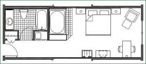 Floor plan 2 King Whirlpool
